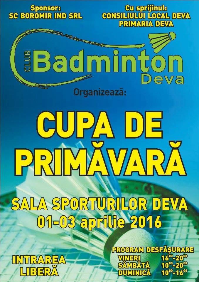 Badminton - cupa de primăvară Deva