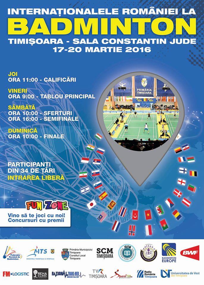 Internaționalele de Badminton – Timișoara 2016