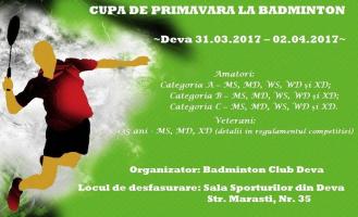 Badminton cupa de primavara Deva 2017, slide