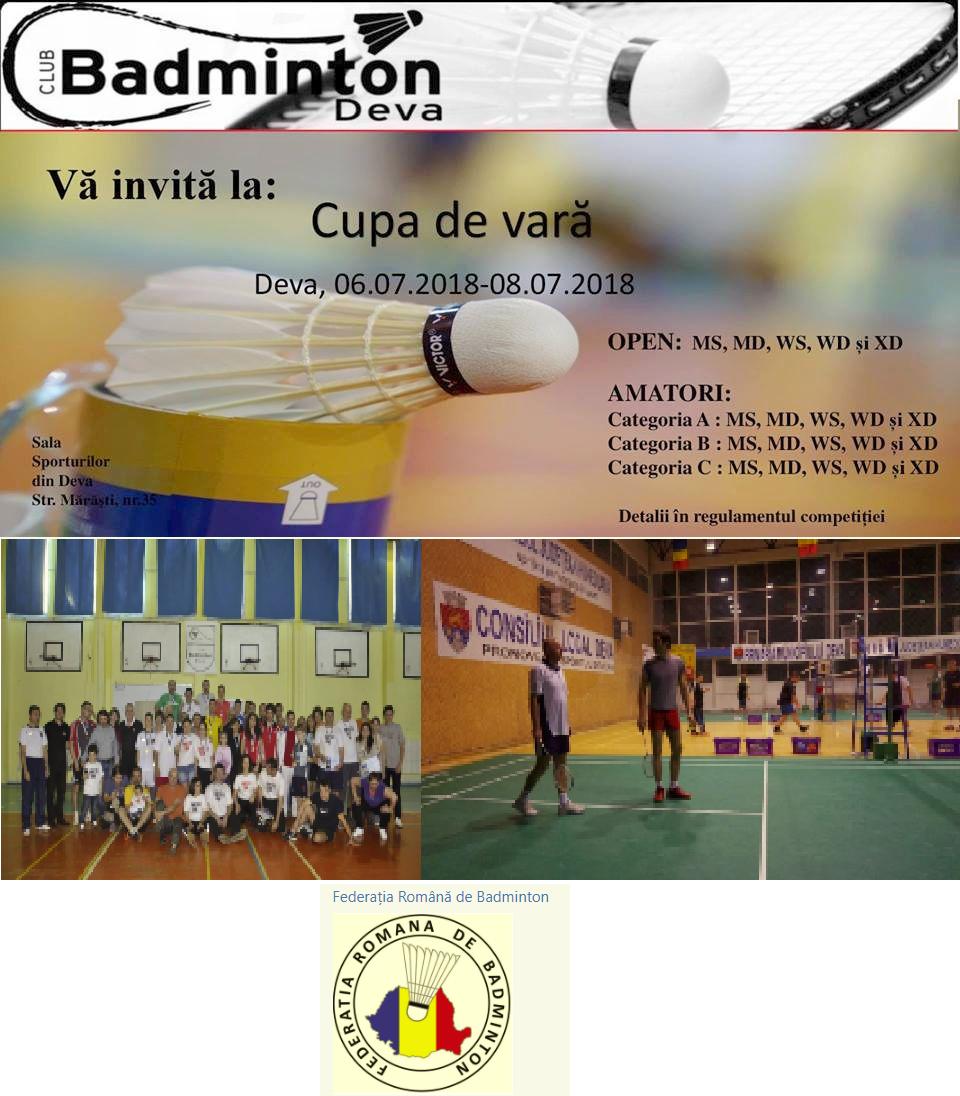 Cupa de vara la badminton, Deva 2018