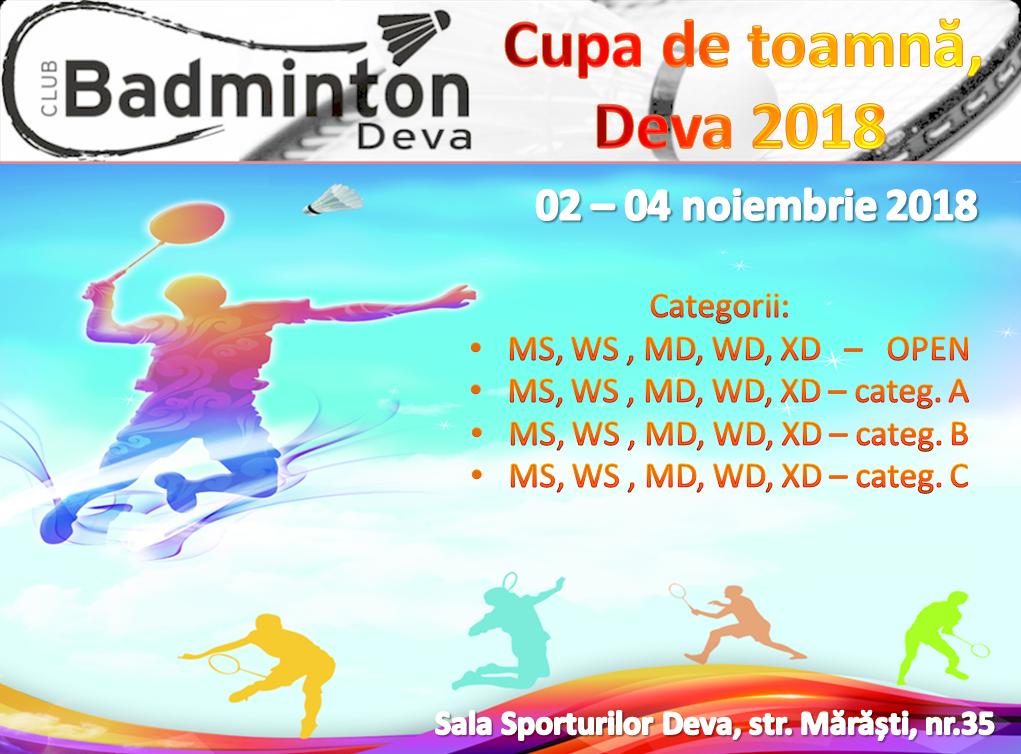 CUPA DE TOAMNĂ DEVA 2018